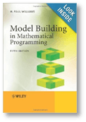 Cover of the Model Building in mathematical programming book