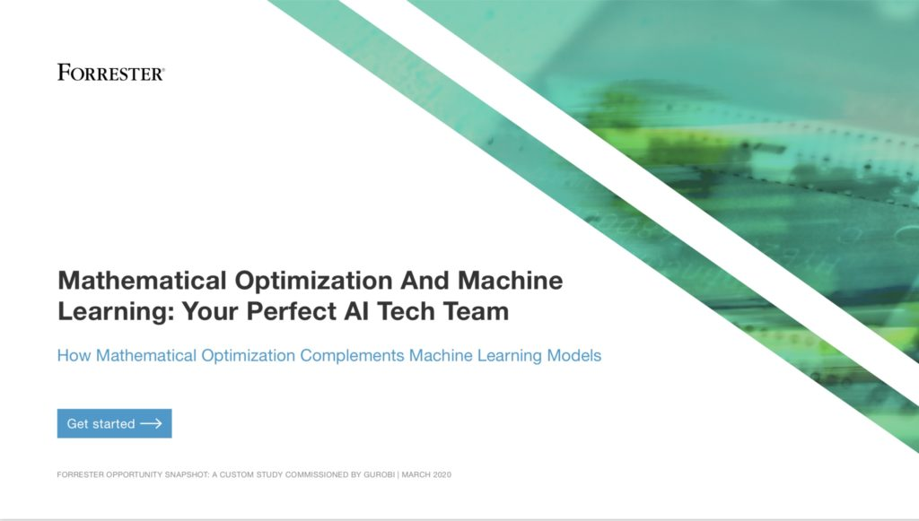 "Forrester Opportunity Snapshot – ""Mathematical Optimization and Machine Learning: Your Perfect AI Tech Team"""