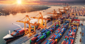 This supply network design problem determines how to satisfy customer demand while minimizing shipping costs, given a set of factories, depots, and customers.
